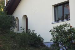 Fassade nach dem Verputzen